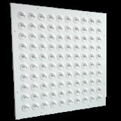 NWK-5  wymiar zewnętrzny 595x595, 100 dyszek małych w kolorze białym, płyta stal lakierowana proszkowo RAL9016