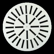 Nawiewnik wirowy NWO-2 fi600/32 płyta stal lakierowana proszkowo RAL9016, kierownice czarne, mocowanie centralne