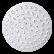 Nawiewnik okrągły NWO-5, 66 małych dyszek w kolorze białym, układ okrągły, płyta stal lakierowana proszkowo RAL9016, mocowanie centralne