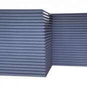 Ściana lamelowa SSL-WL - egzemplarz pokazowy RAL9006 AL