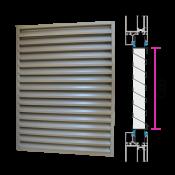 Czerpnia panelowa do zapięcia w pakiet szybowy / drzwiowy