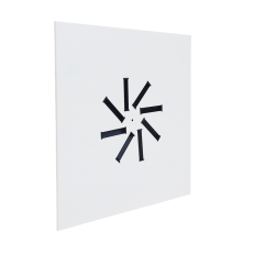 Nawiewnik NWK-3 / płyta 595x595 do sufitu podwieszanego / 8 lamel / RAL 9016 / stal ocynkowana / mocowanie centralne do poprzeczki w skrzynce rozprężnej